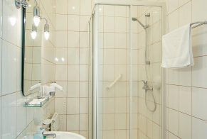 Pokój jednoosobowy - łazienka - Hotel Jan Sander